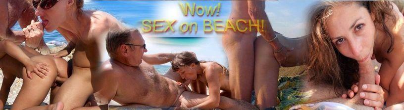 Wow! Nudists fucking on the beach!