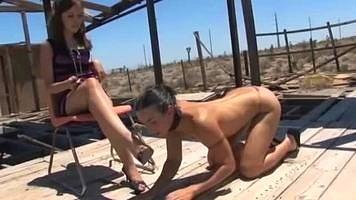 lesbian foot worship,female foot slave,lesbian foot domination