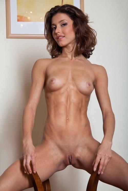 Skinny amateur fit girl interracial