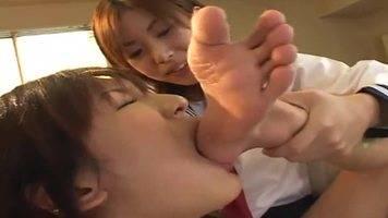lesbian foot domination,lesbian foot worship,lesbian toe sucking,female foot slave,asian