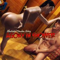 Agony In Shower Ballbusting Femdom Comics