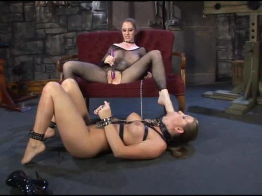 Foot slave in chains