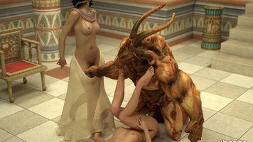 threesome,3d porn,egyptian,queen,monster sex,slave girl
