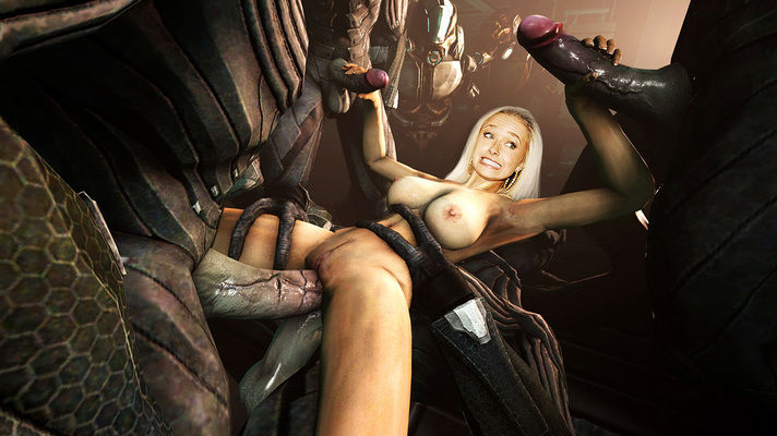 Hayden P. fucked by alien cock monsters