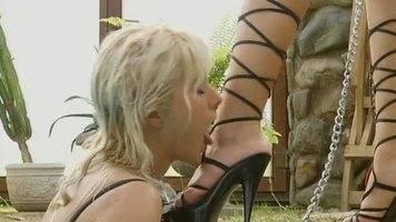 female foot slave,lesbian foot domination,lesbian foot worship
