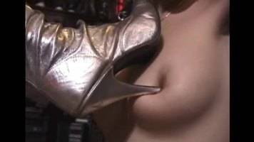 lesbian boot domination,heels tits torture,high heels licking