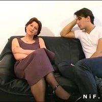 French hairy cougar squirts n gets anal fucked n facialized