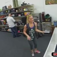 Super hot blonde babe fucked in pawn shop!