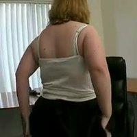 Horny Fat BBW friend masturbating her hairy pussy