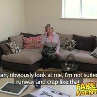FakeAgentUK Brit girl gets spanked, fingered and fucked