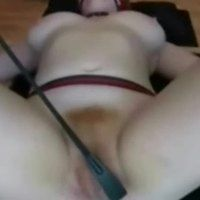 Spanking and spreading pussy